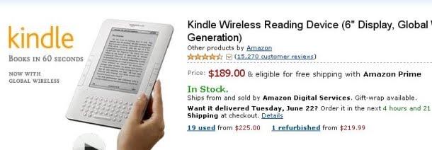 Επιπτώσεις του iPad μέρος 3ο: μείωση τιμής για το Kindle 2