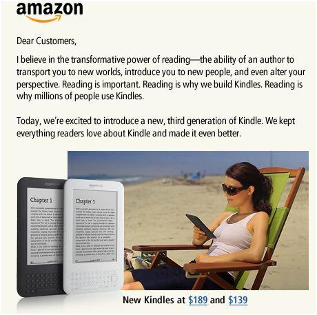 Kindle 3: νέα γενιά Kindle ανακοίνωσε το Amazon
