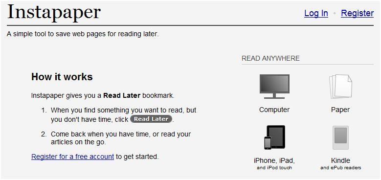 """Instapaper: """"διαβάστε αργότερα"""" άρθρα από το ίντερνετ ή μετατρέψτε τα σε e-book"""