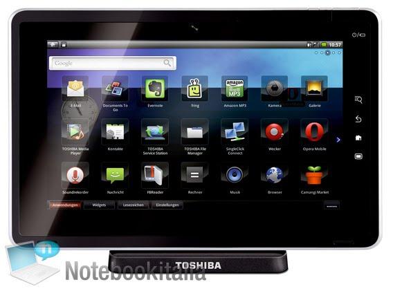 Toshiba Folio 100: όλα τα χαρακτηριστικά του πρώτου tablet PC SmartPad με Android 2.2 Froyo