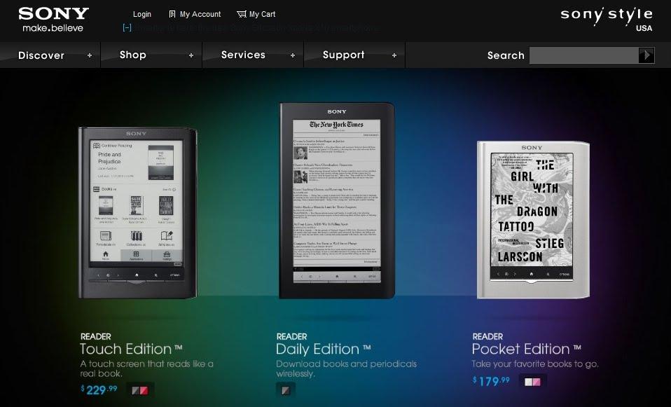 3 νέοι Sony Readers ανακοινώθηκαν επίσημα, όλοι με touchscreen