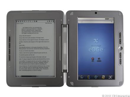 enTourage eDGe, με δύο οθόνες αφής, ηλεκτρονικού χαρτιού και LCD