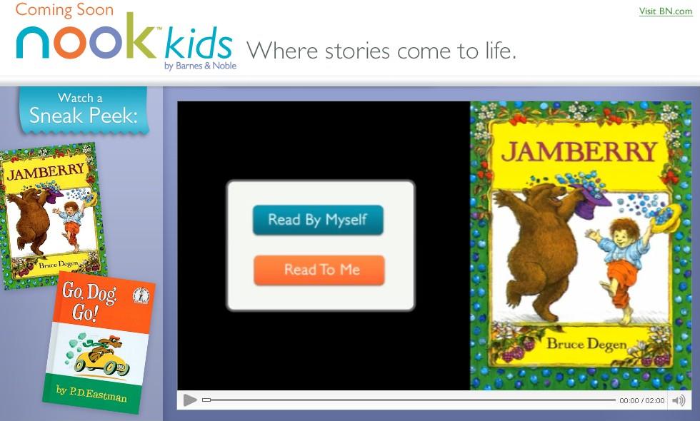 Nook Kids: παιδικά ebooks από τη Barnes & Noble