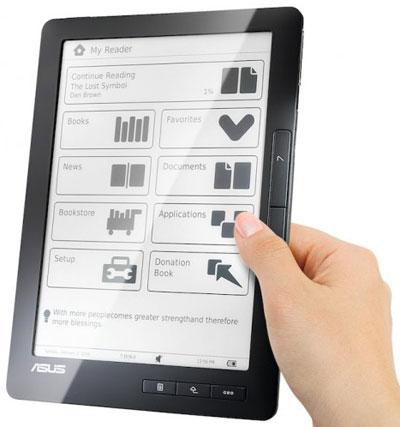 Eee Reader TZ-900 και DR-900 στις 9 ίντσες και οθόνη αφής από την Asus