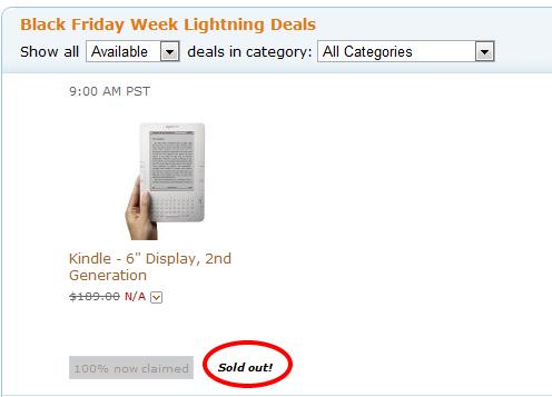 """""""Μαύρη Παρασκευή"""" στο Amazon: Σε δευτερόλεπτα τελείωσαν τα Kindle 2"""