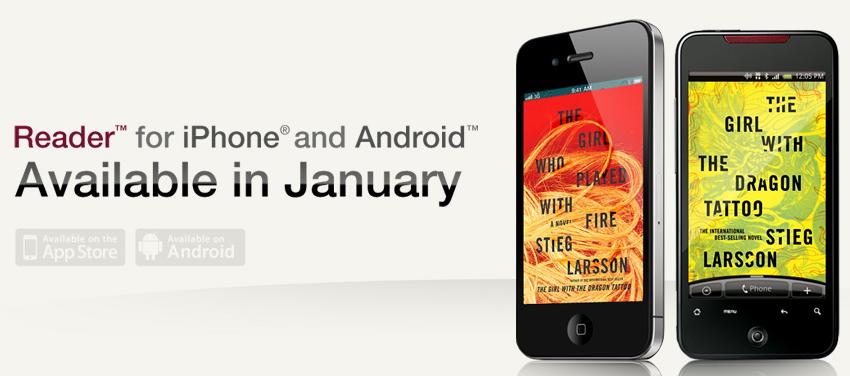 Αναβολή για τις εφαρμογές Sony Reader για iPhone και Android