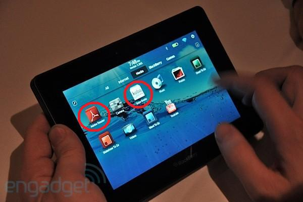 Τα πρώτα video με το tablet PC BlackBerry PlayBook