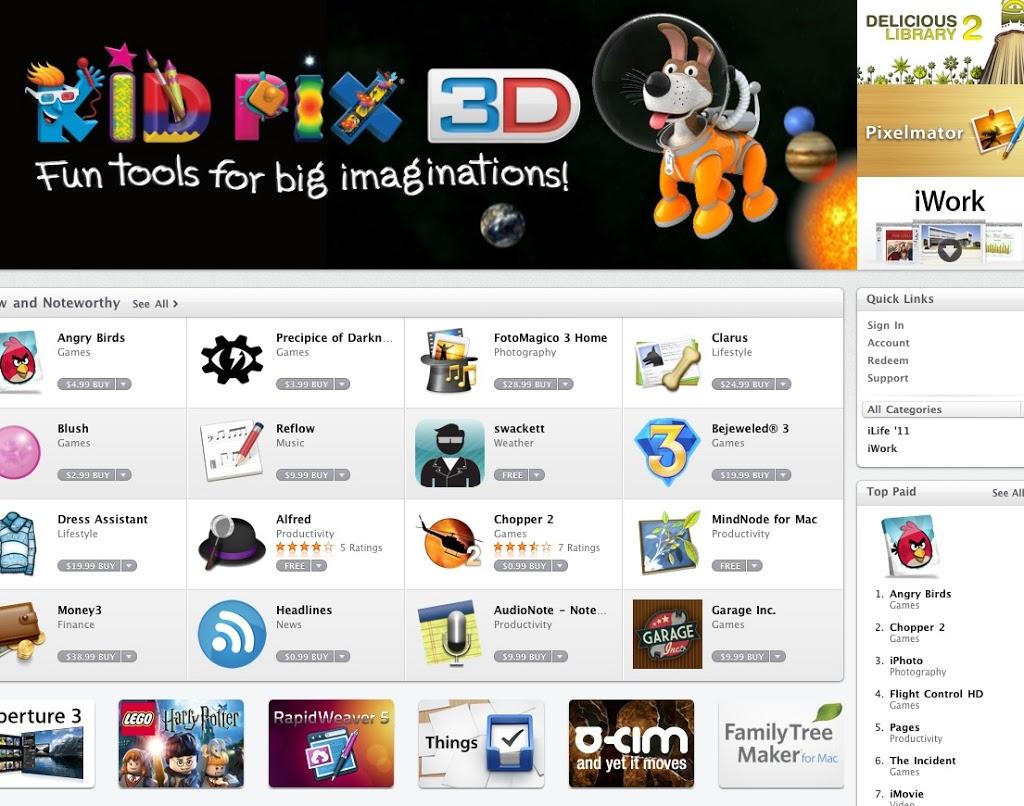 Άνοιξε το Mac App Store της Apple – δεν έχει την εφαρμογή iBooks για Mac