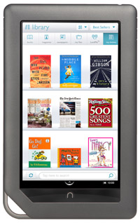 Nook Color, tablet PC με οθόνη αφής LCD, Android και στόχο τα ebooks