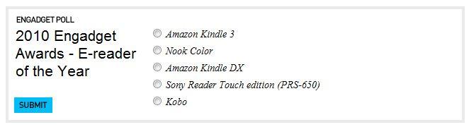 Ψηφοφορία στο Engadget για τον ebook <span class=