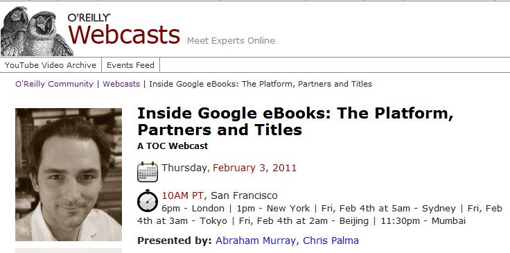 Δωρεάν live webcast την Πέμπτη με τους ανθρώπους της Google να μας ξεναγούν στα Google ebooks
