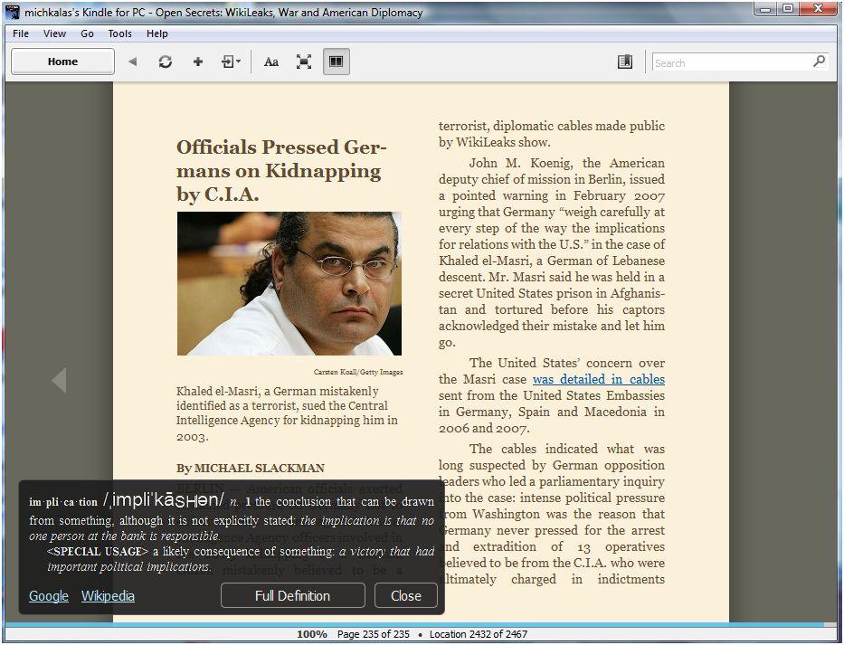Αναβάθμιση για την εφαρμογή Kindle for PC – με αριθμούς σελίδων