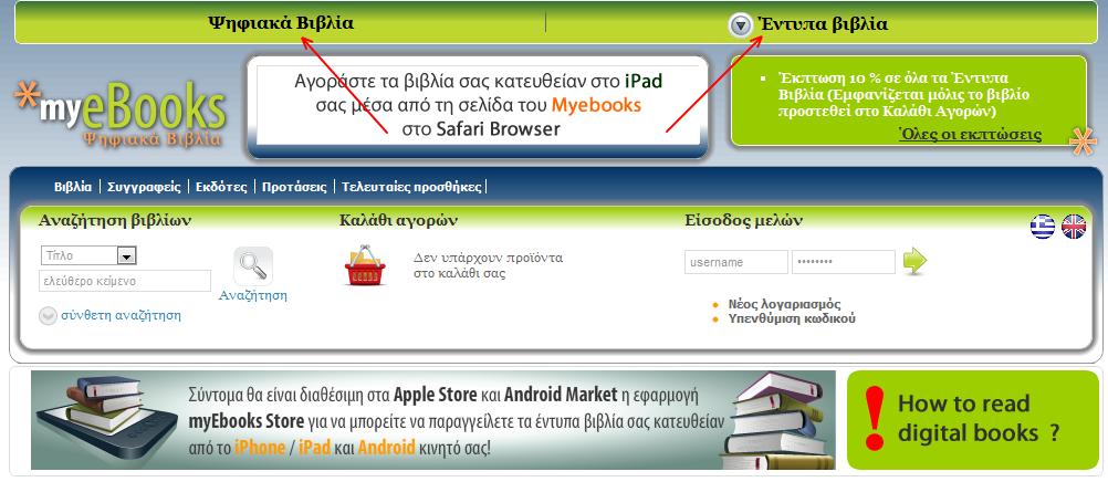 Προσθήκη και τυπωμένων βιβλίων από το MyeBooks σε site και εφαρμογές