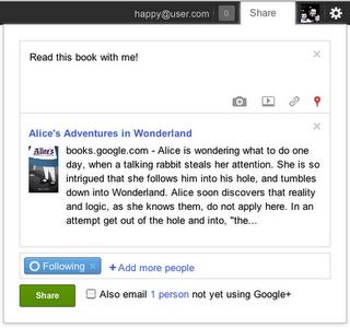 Μοιραστείτε εύκολα και γρήγορα τα αγαπημένα σας βιβλία στο Google+