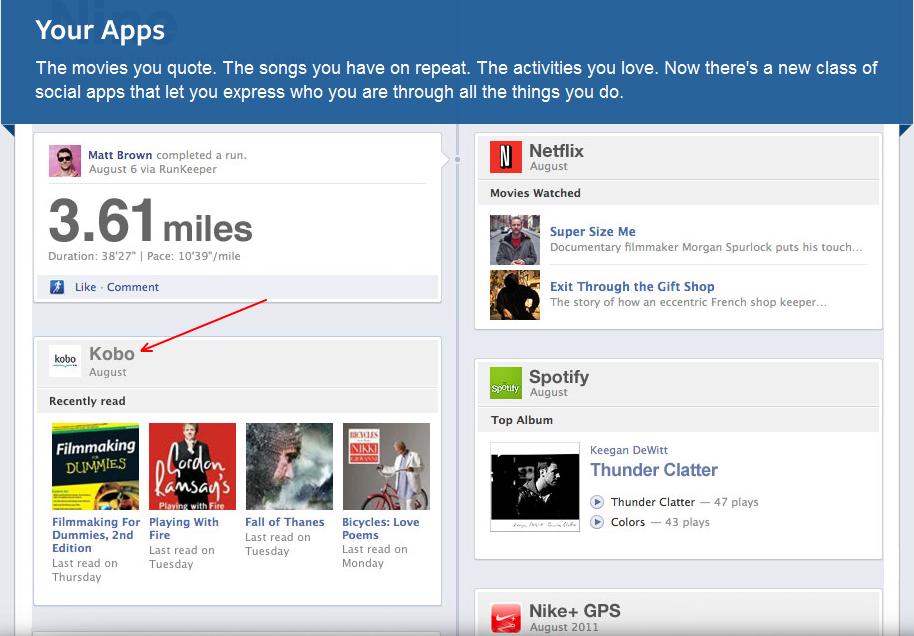 """Ξεκινώντας με το Kobo, το νέο Timeline του Facebook καταγράφει τη """"ζωή μας ως αναγνώστες"""""""