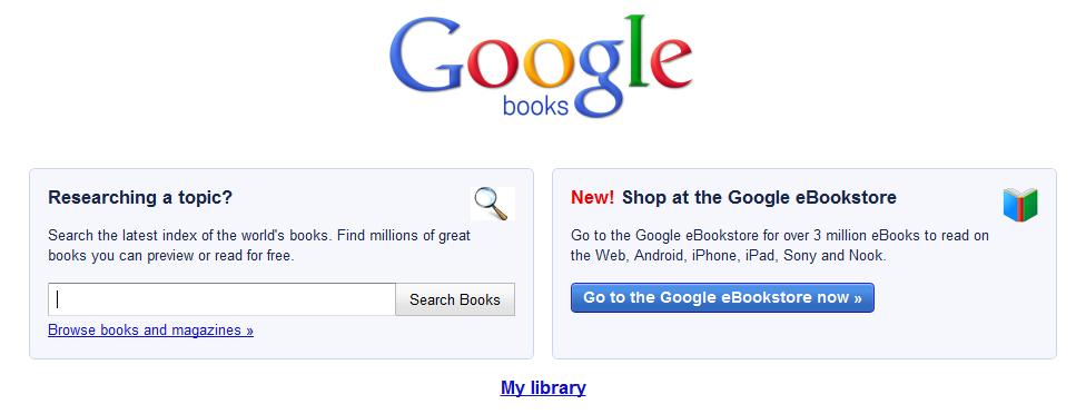Βιβλιοπωλείο για ebooks άνοιξε και στη Βρετανία η Google, το 2012 στην υπόλοιπη Ευρώπη