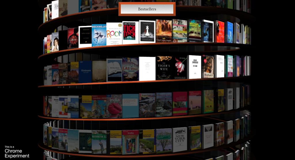 """""""Ατέλειωτη Ψηφιακή Βιβλιοθήκη"""" σε 3D μέσα από τον browser από τη Google"""
