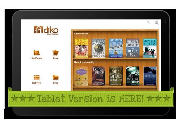 Εφαρμογή Aldiko για Android με αναβαθμισμένη υποστήριξη PDF και tablet PC