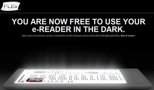FLEx Lighting: ενσωματωμένος φωτισμός για τις οθόνες ηλεκτρονικού χαρτιού