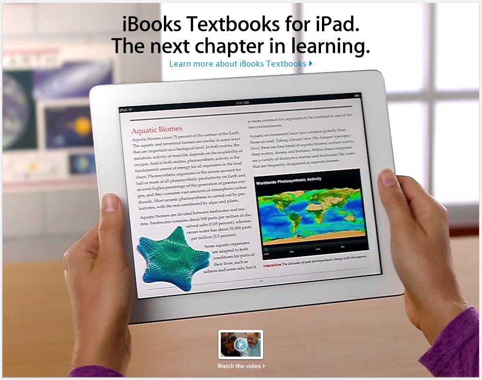 Δυναμική είσοδος της Apple στην εκπαίδευση με νέες εφαρμογές iBooks, iTunes U και iBooks <span class=