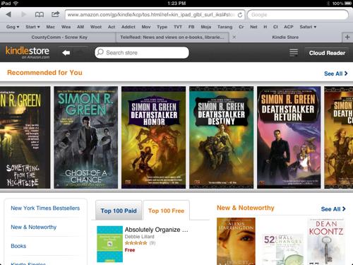 Ειδικό site για το Kindle Store στο iPad δημιούργησε το Amazon