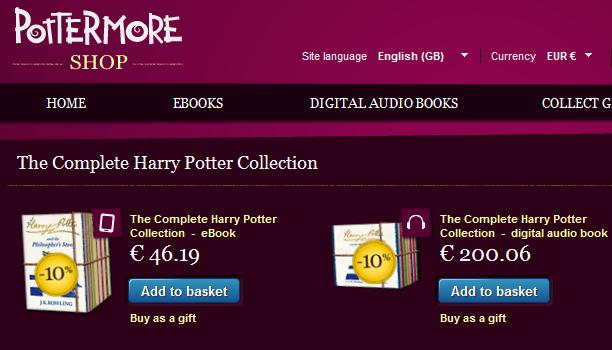 Από σήμερα σε ebooks και audio books ο Χάρι Πότερ στα αγγλικά