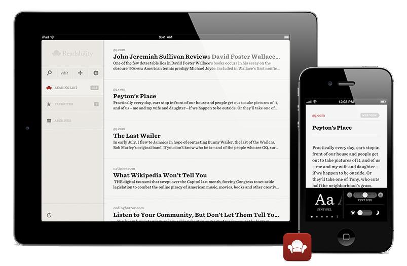 Εφαρμογή Readability για iPad και iPhone
