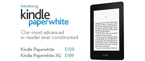 Το Kindle Paperwhite διαθέσιμο για παραγγελία από τα τοπικά Amazon στην Ευρώπη