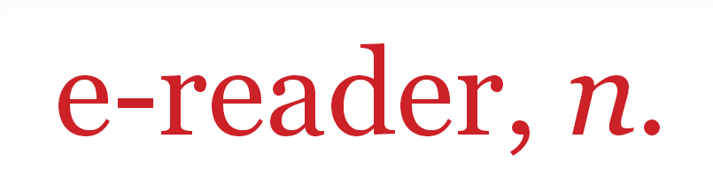 Ο e-reader, πρόσωπο και συσκευή, στο Oxford English Dictionary