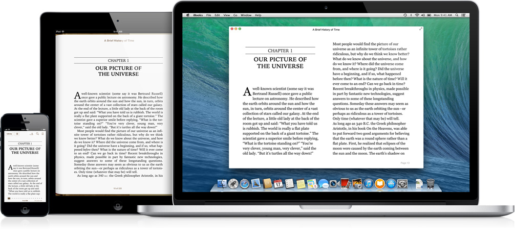 Η εφαρμογή iBooks έρχεται για πρώτη φορά στους υπολογιστές Mac