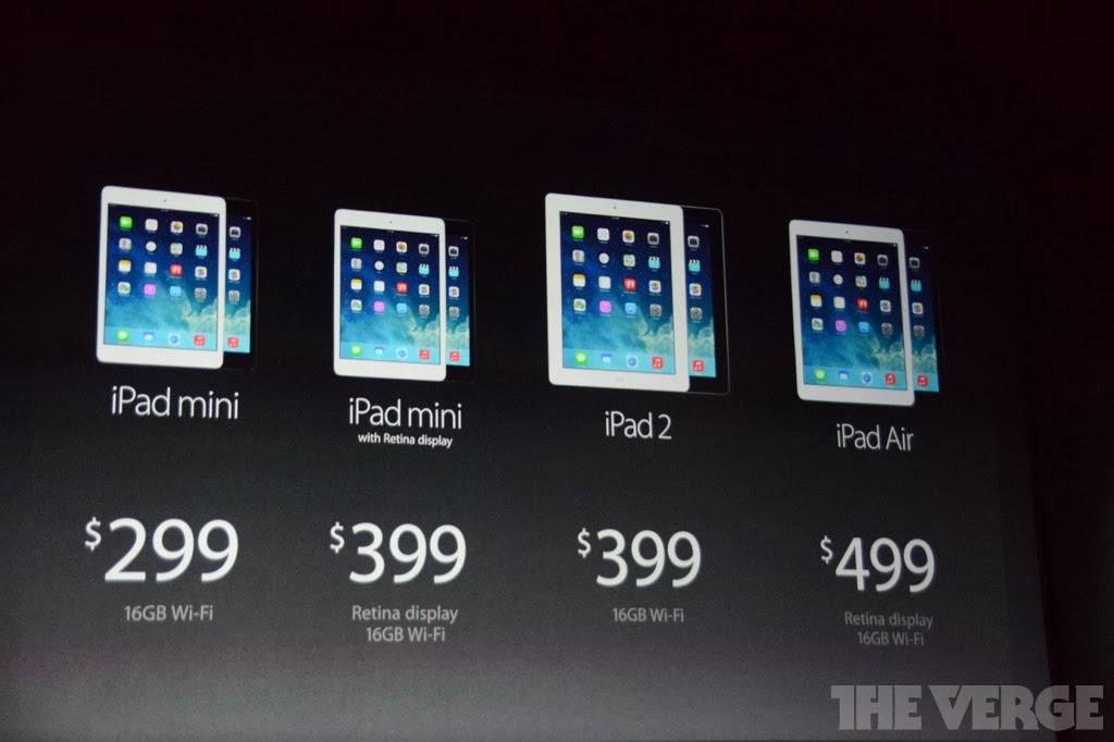 iPad Air και iPad mini με οθόνη retina ανακοίνωσε η Apple