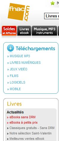 Το Fnac στη Γαλλία εγκαινιάζει κατηγορία ebooks χωρίς κλείδωμα