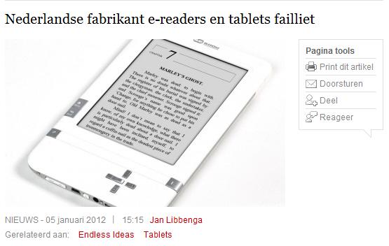 Χρεοκόπησε η κατασκευάστρια εταιρεία των συσκευών BeBook