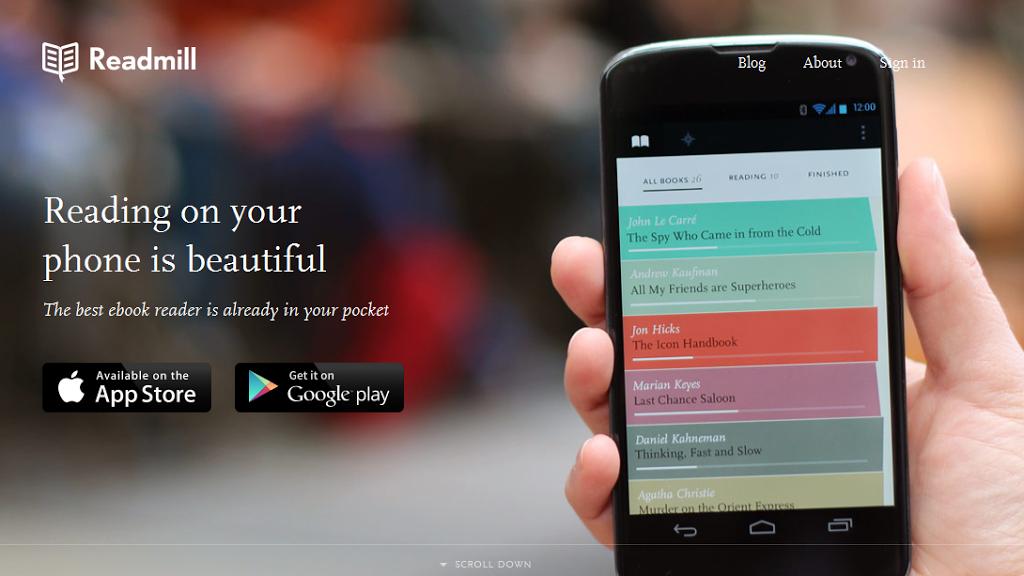 Η εφαρμογή κοινωνικής ανάγνωσης Readmill διαθέσιμη τώρα και για Android