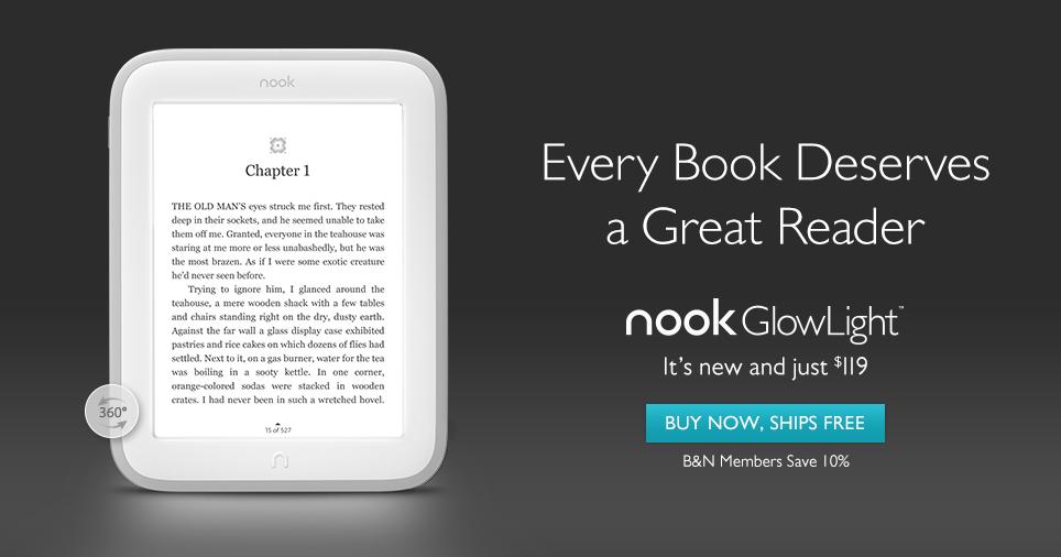 Nook GlowLight, νέος ηλεκτρονικός αναγνώστης από το Barnes & Noble